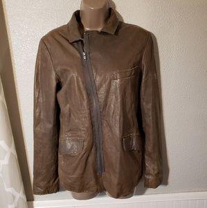 Burning Torch 100% washable leather blazer sz S